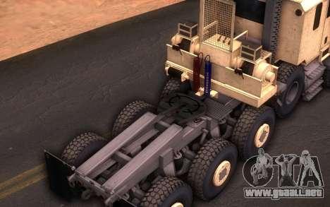 Oshkosh M1070 HET Tank Transporter para la visión correcta GTA San Andreas