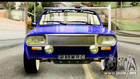Dacia 1300 B 89 WRC para GTA San Andreas vista hacia atrás