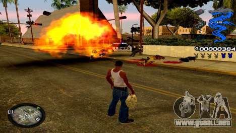 C-HUD Dragon para GTA San Andreas tercera pantalla