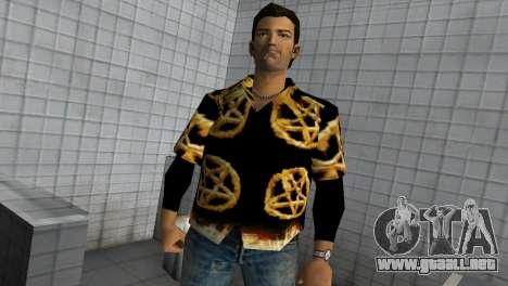 Pentagram Shirt para GTA Vice City segunda pantalla