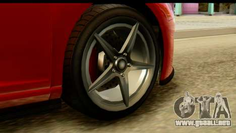 GTA 5 Obey 9F Coupe SA Mobile para GTA San Andreas vista posterior izquierda