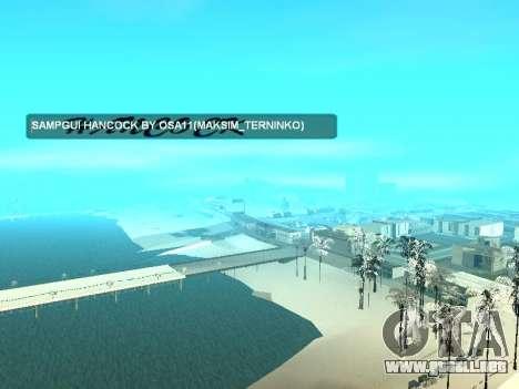 SampGUI Hancock para GTA San Andreas tercera pantalla