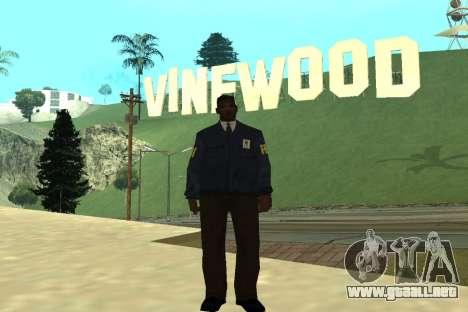 Black Police All para GTA San Andreas segunda pantalla