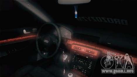 Audi S4 Avant para GTA San Andreas vista hacia atrás