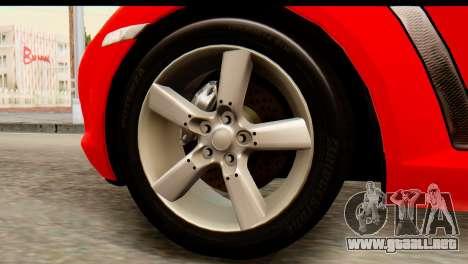 Mazda RX-8 2005 para GTA San Andreas vista posterior izquierda