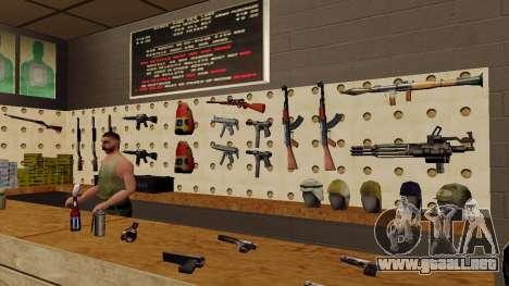 Modelos 3D de armas en Ammu-nation para GTA San Andreas tercera pantalla