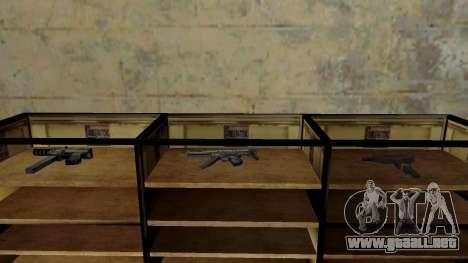 Modelos 3D de armas en Ammu-nation para GTA San Andreas décimo de pantalla