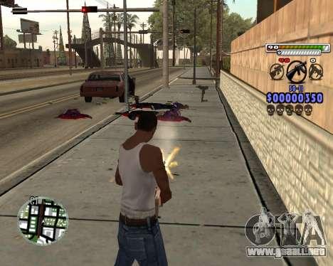 C-HUD by Adam para GTA San Andreas sucesivamente de pantalla