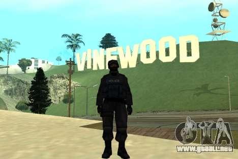 Black Police All para GTA San Andreas sexta pantalla