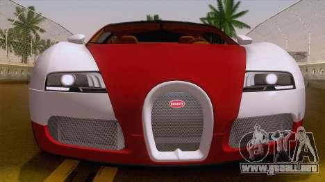 Bugatti Veyron Grand Sport Sang Bleu 2008 para la visión correcta GTA San Andreas