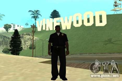 Black Police All para GTA San Andreas quinta pantalla