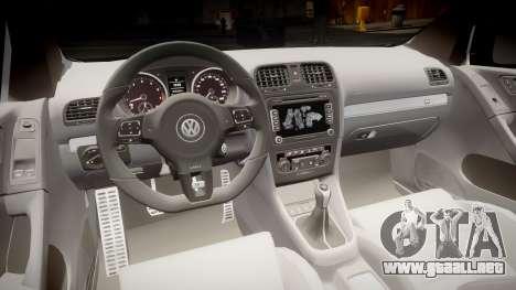 Volkswagen Golf R para GTA 4 vista hacia atrás