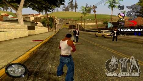 C-HUD Dragon para GTA San Andreas sexta pantalla