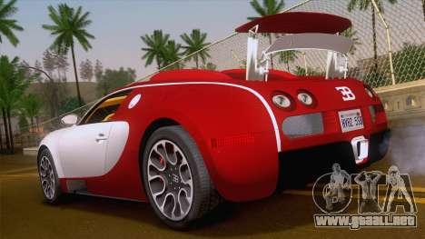 Bugatti Veyron Grand Sport Sang Bleu 2008 para GTA San Andreas left