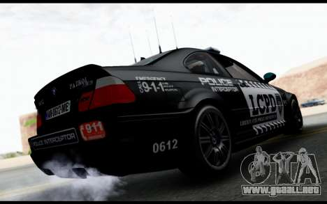 BMW M3 E46 Police para GTA San Andreas left