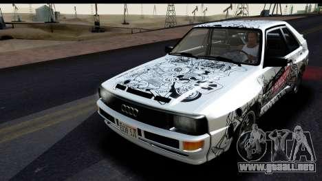 Audi Sport Quattro B2 (Typ 85Q) 1983 [IVF] para GTA San Andreas interior
