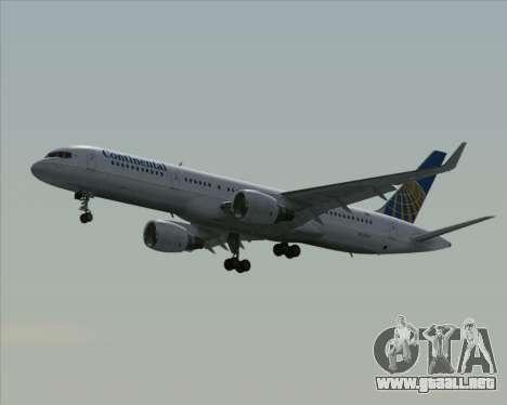 Boeing 757-200 Continental Airlines para GTA San Andreas vista hacia atrás