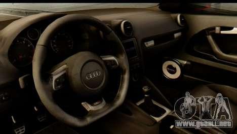 Audi S3 2007 Camber Edit para GTA San Andreas vista hacia atrás