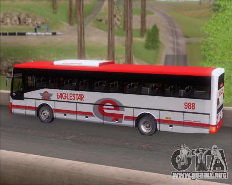 Nissan Diesel UD Santarosa EAGLESTAR 998 para la vista superior GTA San Andreas