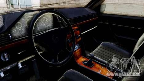 Mercedes-Benz W124 para la visión correcta GTA San Andreas