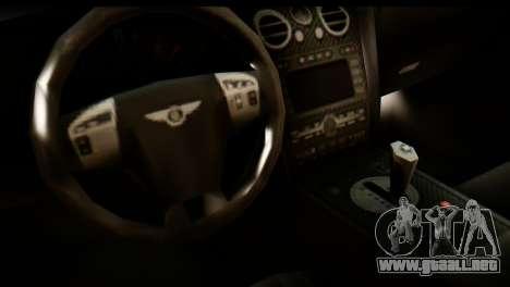 Bentley Continental VIP Stance Style para la visión correcta GTA San Andreas