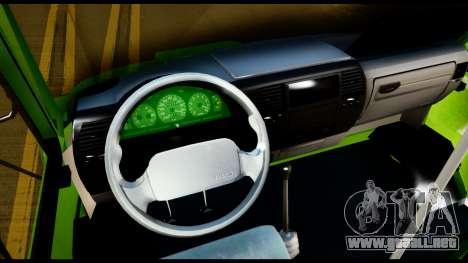 Iveco Minibus para GTA San Andreas vista hacia atrás