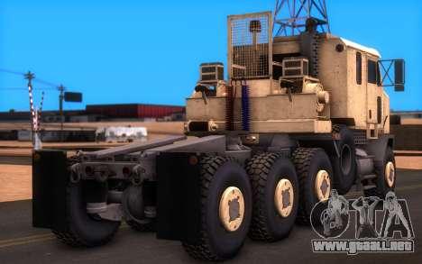 Oshkosh M1070 HET Tank Transporter para GTA San Andreas left