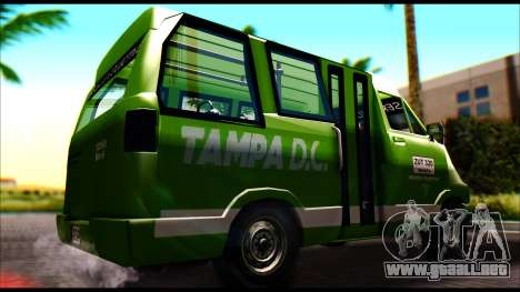 Toyota Microbus para GTA San Andreas vista posterior izquierda