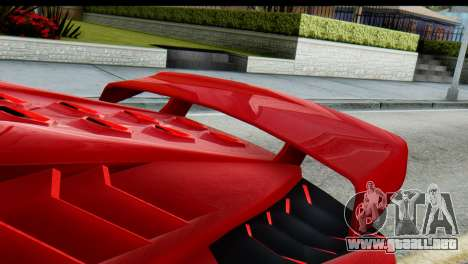 GTA 5 Pegassi Zentorno para GTA San Andreas vista posterior izquierda
