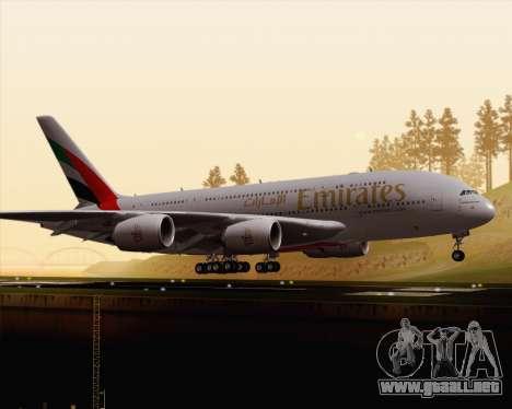 Airbus A380-800 Emirates (A6-EDJ) para GTA San Andreas left
