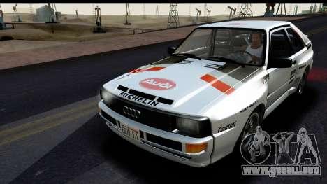 Audi Sport Quattro B2 (Typ 85Q) 1983 [IVF] para la vista superior GTA San Andreas