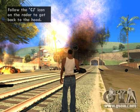 Effect Mod 2014 By Sombo para GTA San Andreas segunda pantalla