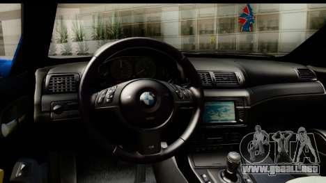 BMW M3 Stance para la visión correcta GTA San Andreas