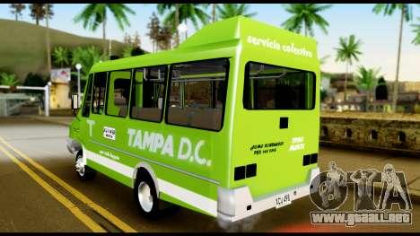 Iveco Minibus para GTA San Andreas vista posterior izquierda