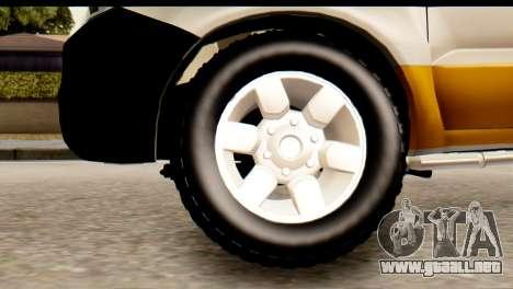 Toyota Hilux Meraclo Utility 2010 para GTA San Andreas vista posterior izquierda