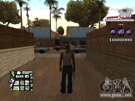 C-HUD by Sorel para GTA San Andreas segunda pantalla