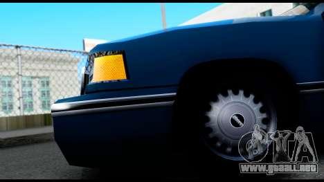 Elegant Station Wagon para GTA San Andreas vista hacia atrás