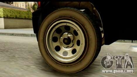GTA 5 Vapid Sadler para GTA San Andreas vista posterior izquierda