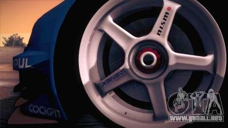 Nissan Skyline GTR-34 2003 para la visión correcta GTA San Andreas
