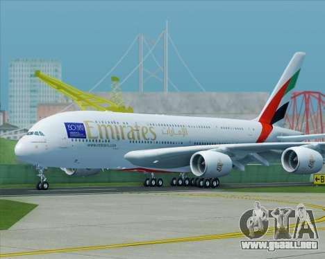 Airbus A380-800 Emirates (A6-EDJ) para la visión correcta GTA San Andreas