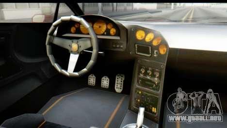 GTA 5 Pegassi Zentorno para GTA San Andreas vista hacia atrás