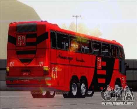 Marcopolo Paradiso G4 Flamengo Guarulhos para visión interna GTA San Andreas