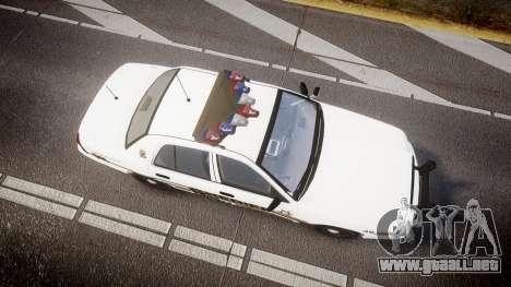 Ford Crown Victoria LCSO [ELS] Vision para GTA 4 visión correcta