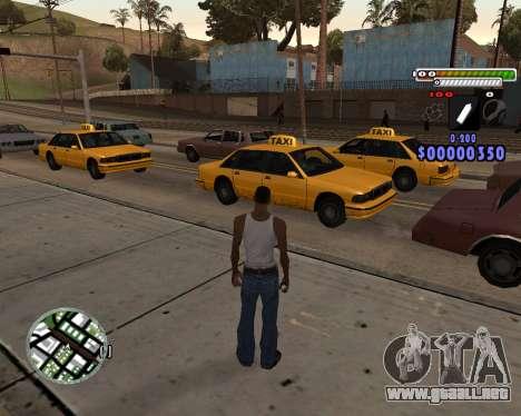 C-HUD by Adam para GTA San Andreas segunda pantalla