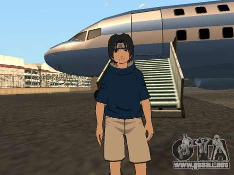 Sasuke Uchiha para GTA San Andreas segunda pantalla