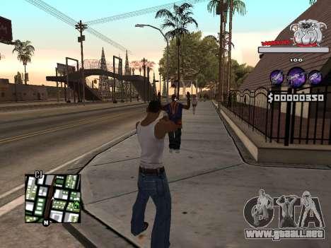 C-HUD by Sorel para GTA San Andreas sucesivamente de pantalla