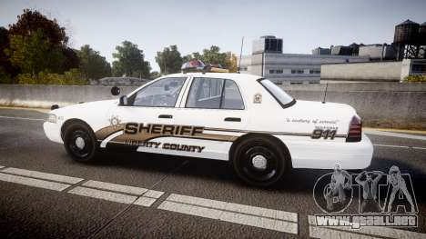 Ford Crown Victoria LCSO [ELS] Vision para GTA 4 left