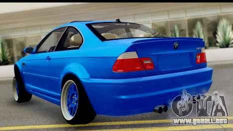 BMW M3 Stance para GTA San Andreas left