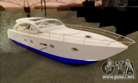 Speed Yacht para GTA San Andreas left