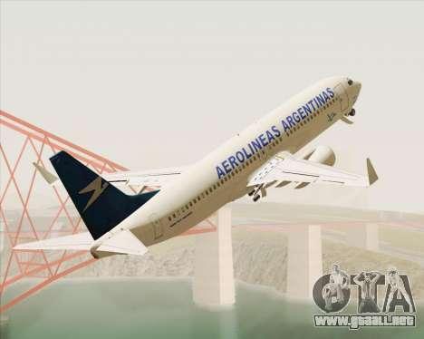 Boeing 737-800 Aerolineas Argentinas para visión interna GTA San Andreas